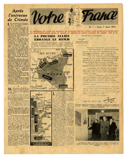 L e a f l e t s 1945 votre france journal dit par du gprf - Journal en normandie ...