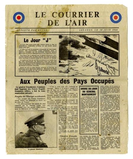 L e a f l e t s le d barquement de normandie annonc le 10 juin 1944 - Journal en normandie ...